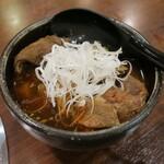 焼肉 山河 - ・「牛スジ煮込み(¥385)」