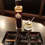 やっぱりステーキ - ニンニク醤油と刻みわさびで食べるべし!