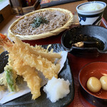 そじ坊 - 大海老天ざる蕎麦