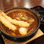 味処 湯楽里 - 料理写真:天ぷら味噌煮込み(1,250円)