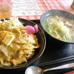 13654641 - ガーリックバター丼満足セット