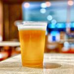 富川製麺所 - ちょい飲みセットのビール