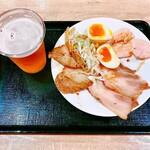 富川製麺所 - ちょい飲みビールセット ¥1200