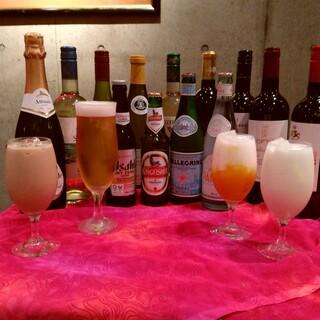 インド料理にピッタリなお酒も充実しております!