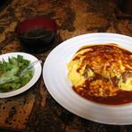 13655265 - オムライス(サラダと味噌汁付)
