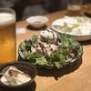Yakitorimaruya - 料理写真:スモーク香るポテトサラダ ~半熟味玉のせ~