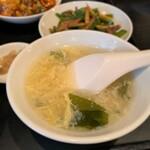 中国四川料理石林 - 中国四川料理 石林@福島 福島ランチ 玉子スープ
