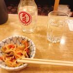 酒場 ふくろ - お通し、日本酒