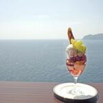 花の妖精 - 料理写真:ブドウのパフェ