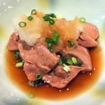 13658110 - 地鶏レバーおろしポン酢580円