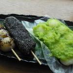 たかのチェーン  - 料理写真:ごまみたらし・ごま・ずんだの団子 一本50円~