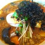 スープカレー トムトムキキル - トッピングのばら海苔をスープin☆