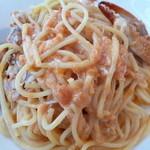 キハチ・銀座本店 Cafe&Bar - 渡り蟹のトマトクリームスパゲッティ