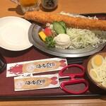 海老どて食堂 - 日本一!特大海老ふりゃー単品2180円