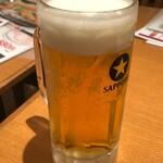 海老どて食堂 - 生ビール中580円