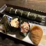 昭べえ - カッパ巻き・ツナ軍艦・カニサラダ・いなり寿司・鉄火巻き
