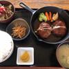 天馬 - 料理写真:ハンバーグ定食(ライス大盛無料)