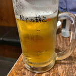 餃子の福包 - 生ビール 550円