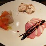 MOZU - 前菜の3種盛り合わせ 1,390円