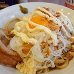 麺屋 味方 - ラーメン汁なし(800円)+タマネギ(50円)トッピング。
