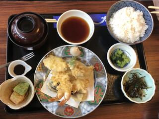 浜田屋 - ランチの天ぷら定食@900円