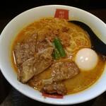 麺屋虎杖 - パーコーカレー担々麺・味玉トッピング