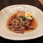 忍庭 - 【'12/05/22撮影】日替わり定食 500円 の肉豆腐と半熟玉子