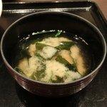 忍庭 - 【'12/05/22撮影】日替わり定食 500円 の味噌汁