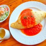 レストランメルシー - 料理写真:ハンバーグランチ トマトソース