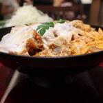新宿とんかつさぼてん - ふんわり卵のかつ丼 熟成三元麦豚ロースかつ