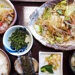 志のぶ - 料理写真:野菜炒め定食  1800円          2020年6月