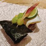 Ikebukurosushisora - 森のくまさん             ホタテの磯部焼き、かますの塩焼き