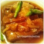 13667226 - 衣笠茸と揚げ豆腐のオイスターソース