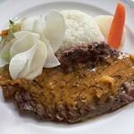 エコ ロロニョン - ラム肉のピーナッツチリソース ステーキ