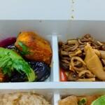 パリヤ - 季節野菜のわさび醤油マリネ、ぜんまいとえごまの実のナムル ♪