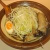 Gokubutoseiryuuramen - 料理写真:中華そば 肉入り  ミニ盛り:200g  にんにく少し  味濃いめ  ※輸入メンマが入手困難なため、トッピングを白髪ネギに変更しているとのこと