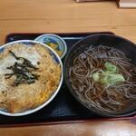 てんや - 料理写真:かつ丼そば(温)セット 990円(税込)