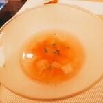 神田小川町 幻のイタリアン カンティーニ - 具沢山スープ
