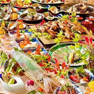 糸島活魚を自社で配送!鮮魚や旬菜を堪能できるコースメニュー