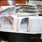 ばじ公園八番 - 本日の鮮魚 実物