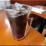 ばじ公園八番 - セットのアイスコーヒー