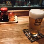 餃子 すぐるや - 生ビール(600円)