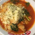 太陽のトマト麺 - 太陽のチーズラーメン(トマト麺) 麺L