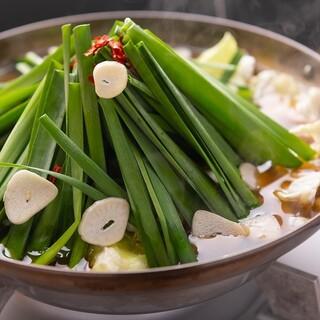 徹底的にこだわった、野菜を楽しむ「もつ鍋」