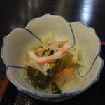 前沢温泉 舞鶴の湯 食堂 - 前沢牛柳川鍋定食(小鉢)