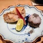鮨 とかみ - 甘鯛のうろこ焼き、石川芋のきぬかつぎ