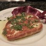 IL BALLOND'ORO - 燻製スカモルツァチーズの鉄板焼き
