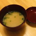 寿司・懐石處 やなぎ - 味噌椀 真鯛の荒汁