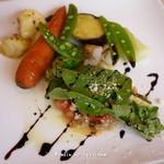 13675678 - 若鶏のビール煮、温野菜添え
