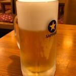 やぶ福 - 名物セットの生ビール